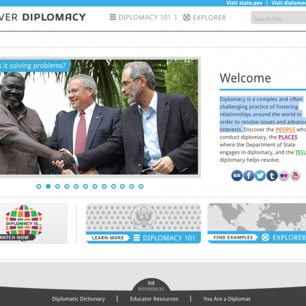 Screenshot, Diplomacy Center, introduction