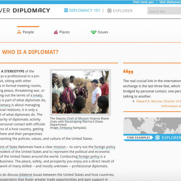 Who is a diplomat, Diplomacy Center, screenshot