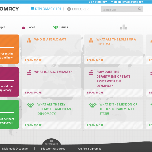 Screenshot, Discover Diplomacy, Diplomacy Center