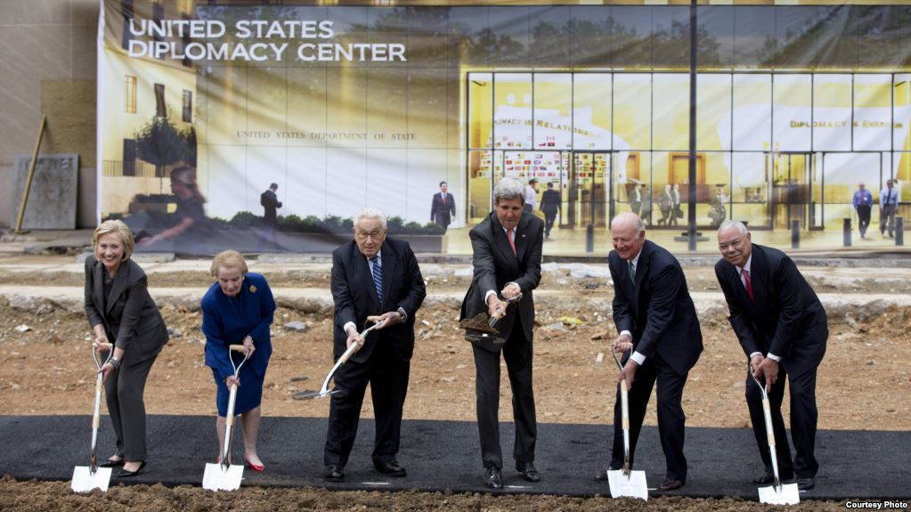 Diplomacy Center, Secretary of State, Groundbreaking