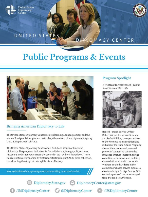 Public Programs, Diplomacy Center, Events