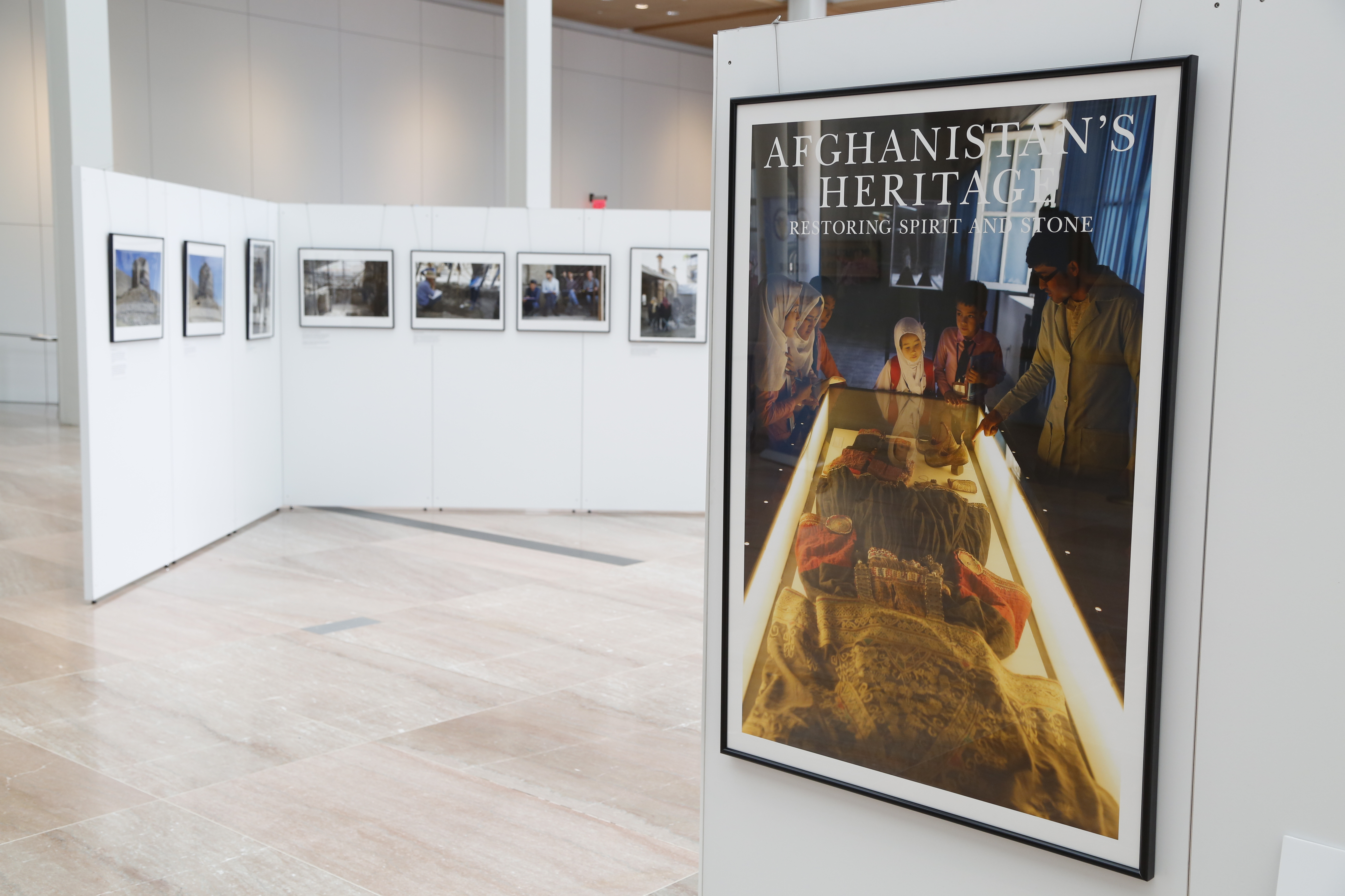Photo exhibit in the Diplomacy Center pavilion