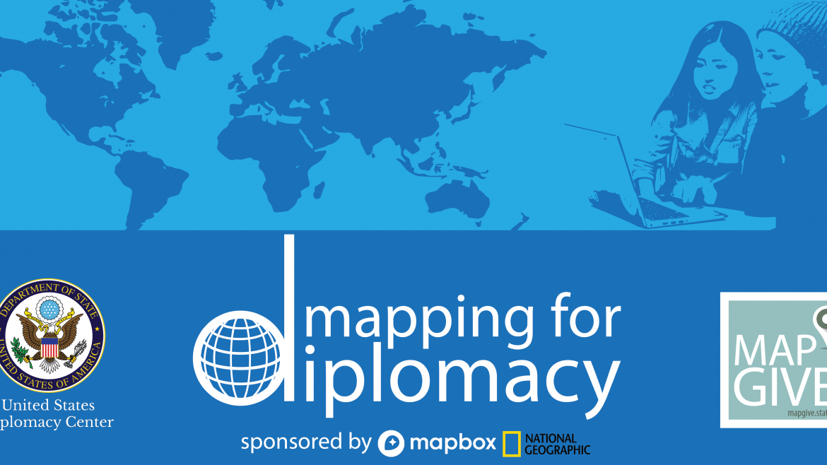 map with logos and mapping for diplomacy text