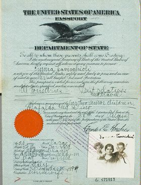 Old U.S. Passport.