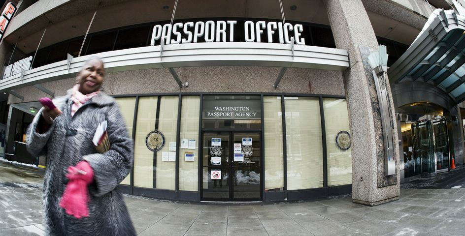 A U.S. Passport Office in downtown Washington, D.C.