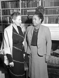 Eugenie Anderson, left, Ambassador to Denmark (1949-1953)