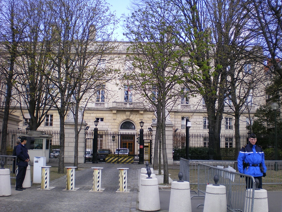 Gates of the U.S. Embassy in Paris
