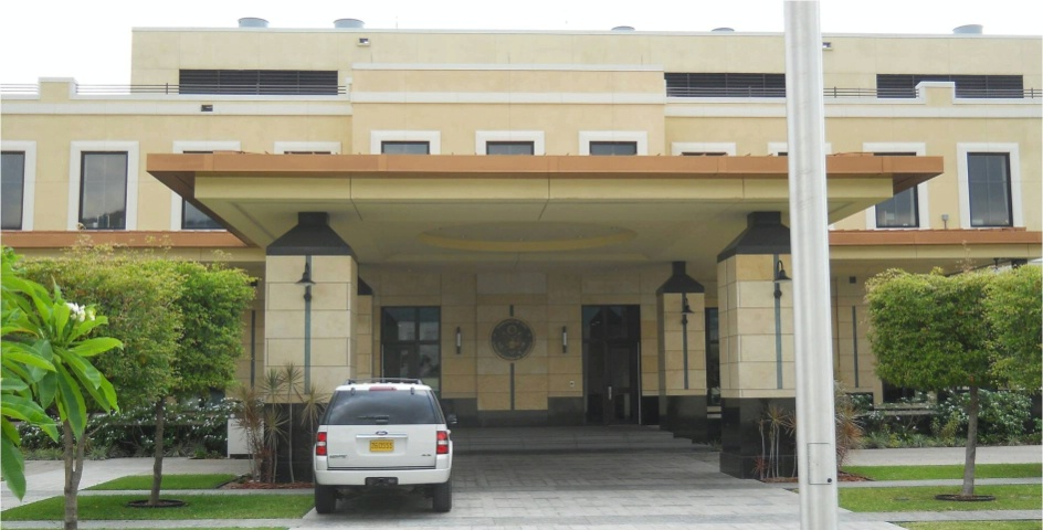 Picture of the U.S. Embassy in Kingston, Jamaica