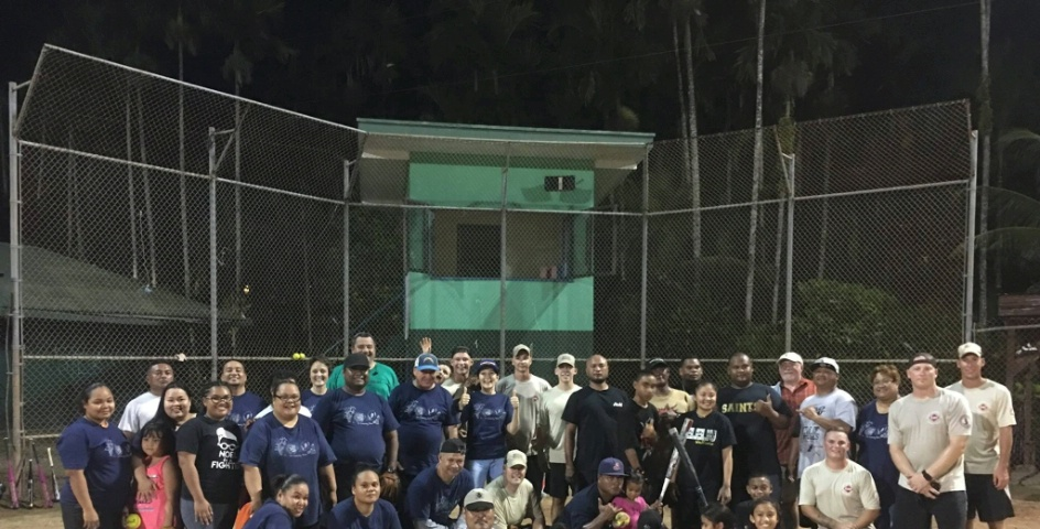 Softball game sponsored by the embassy