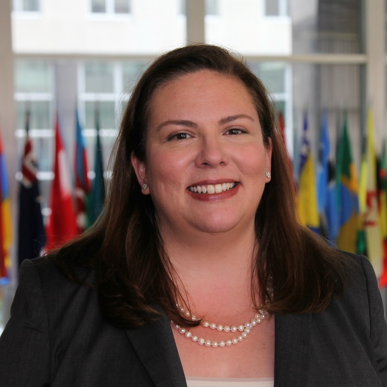 Portrait of Hilary Brandt in State Department