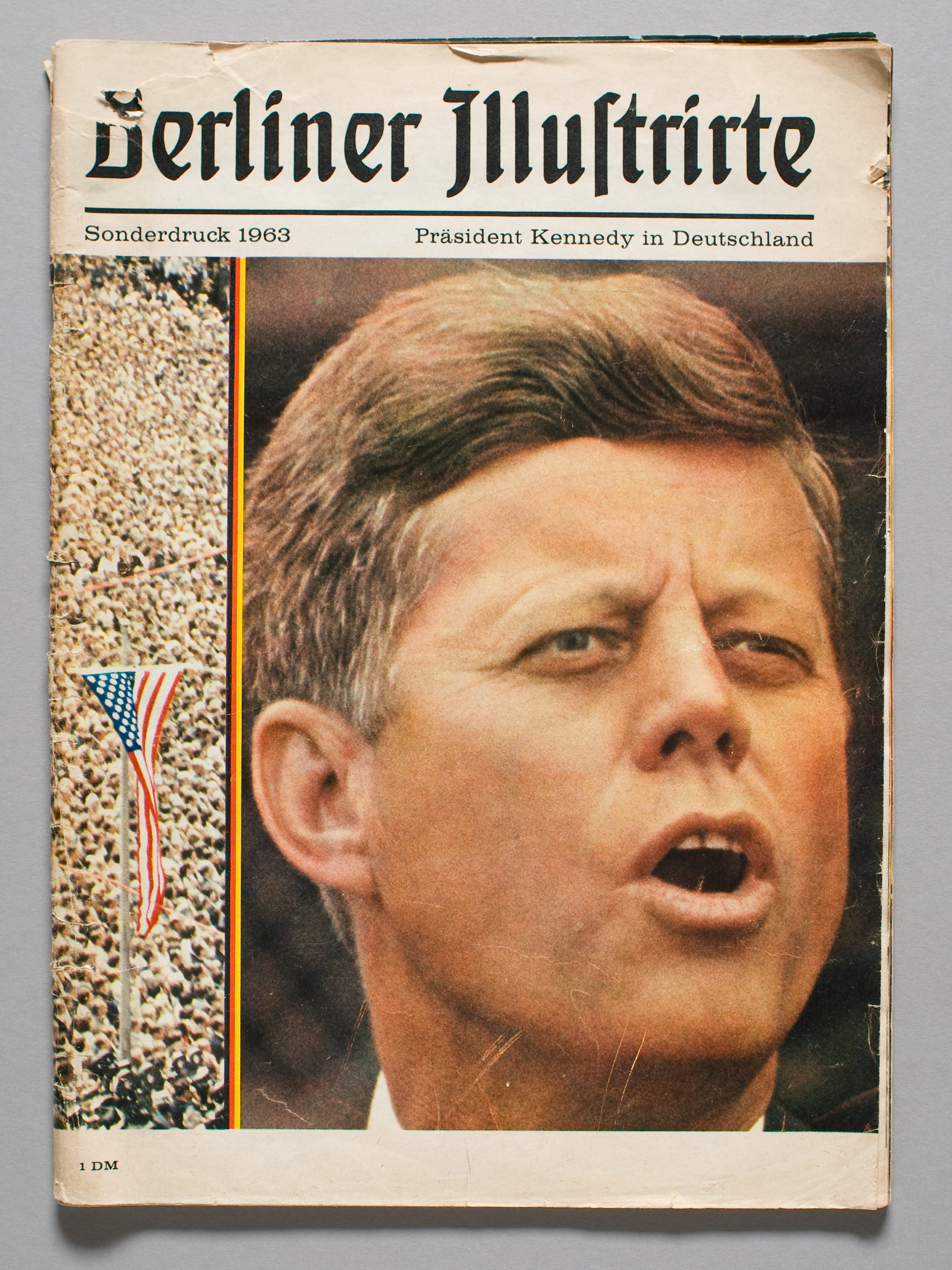 Photograph of U.S. President, John F. Kennedy making his I Am a Berliner speech