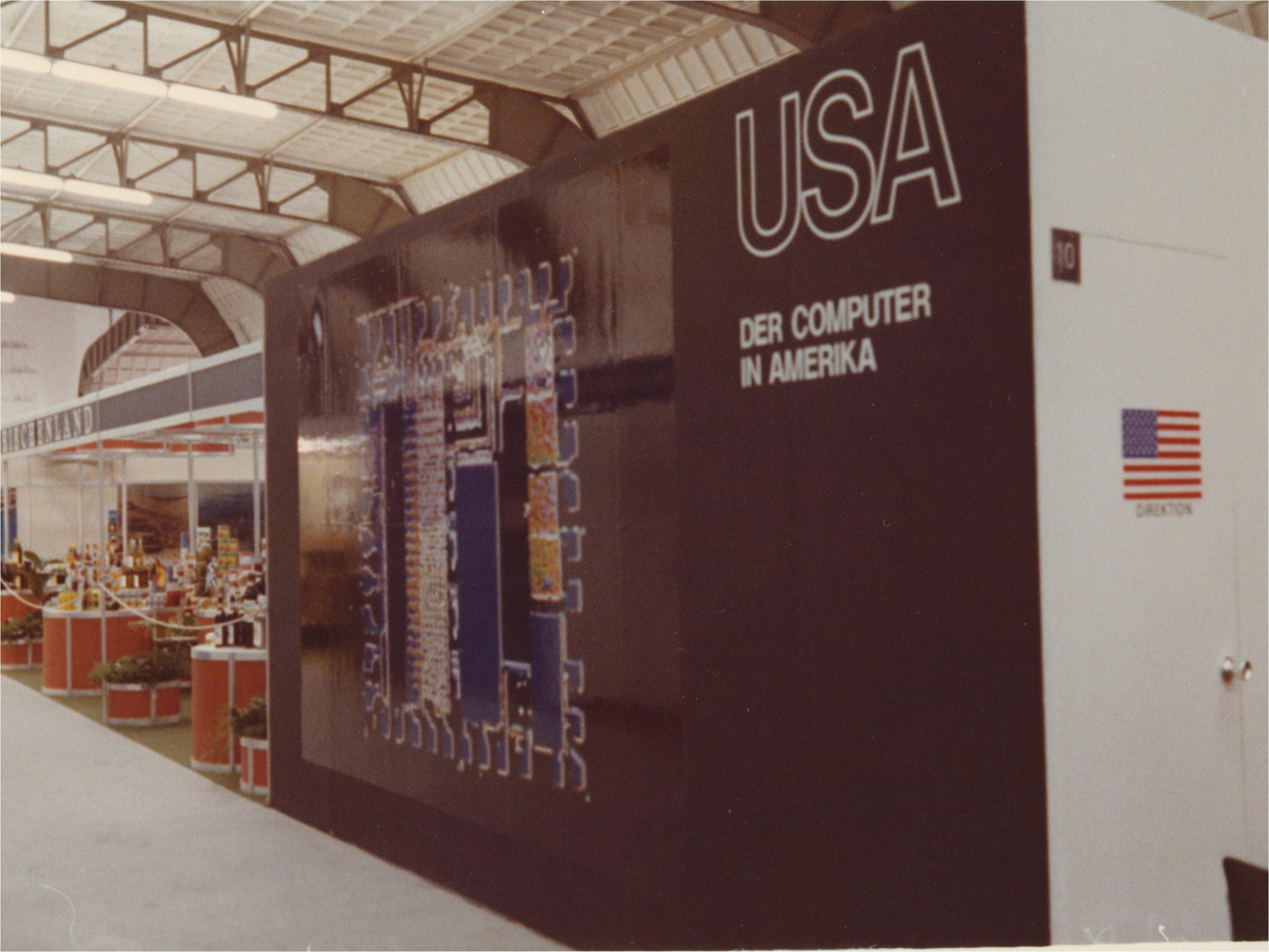 U.S. Computer exhibit at Leipzig Trade Fair