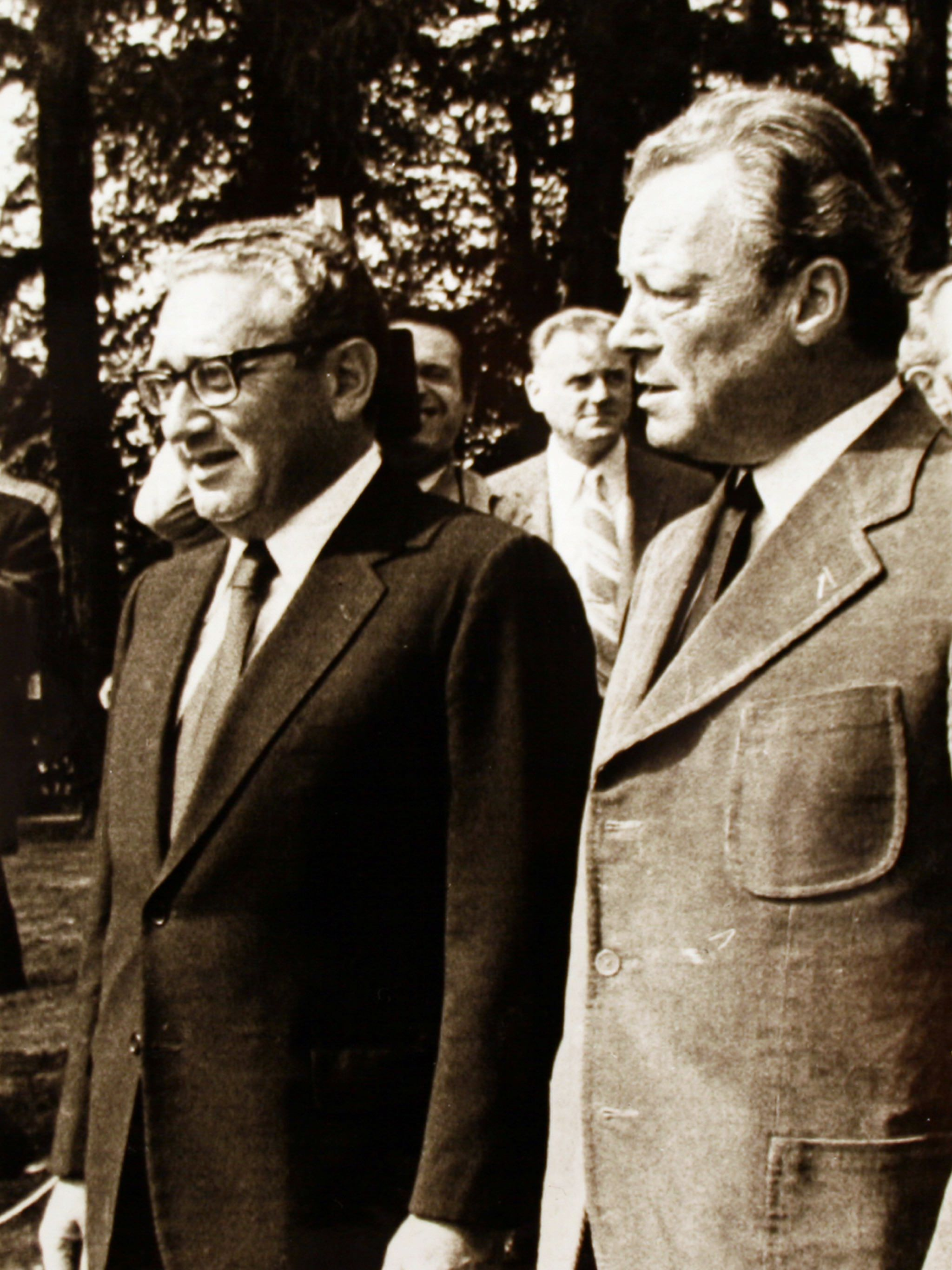 Willy Brandt and Henry Kissinger