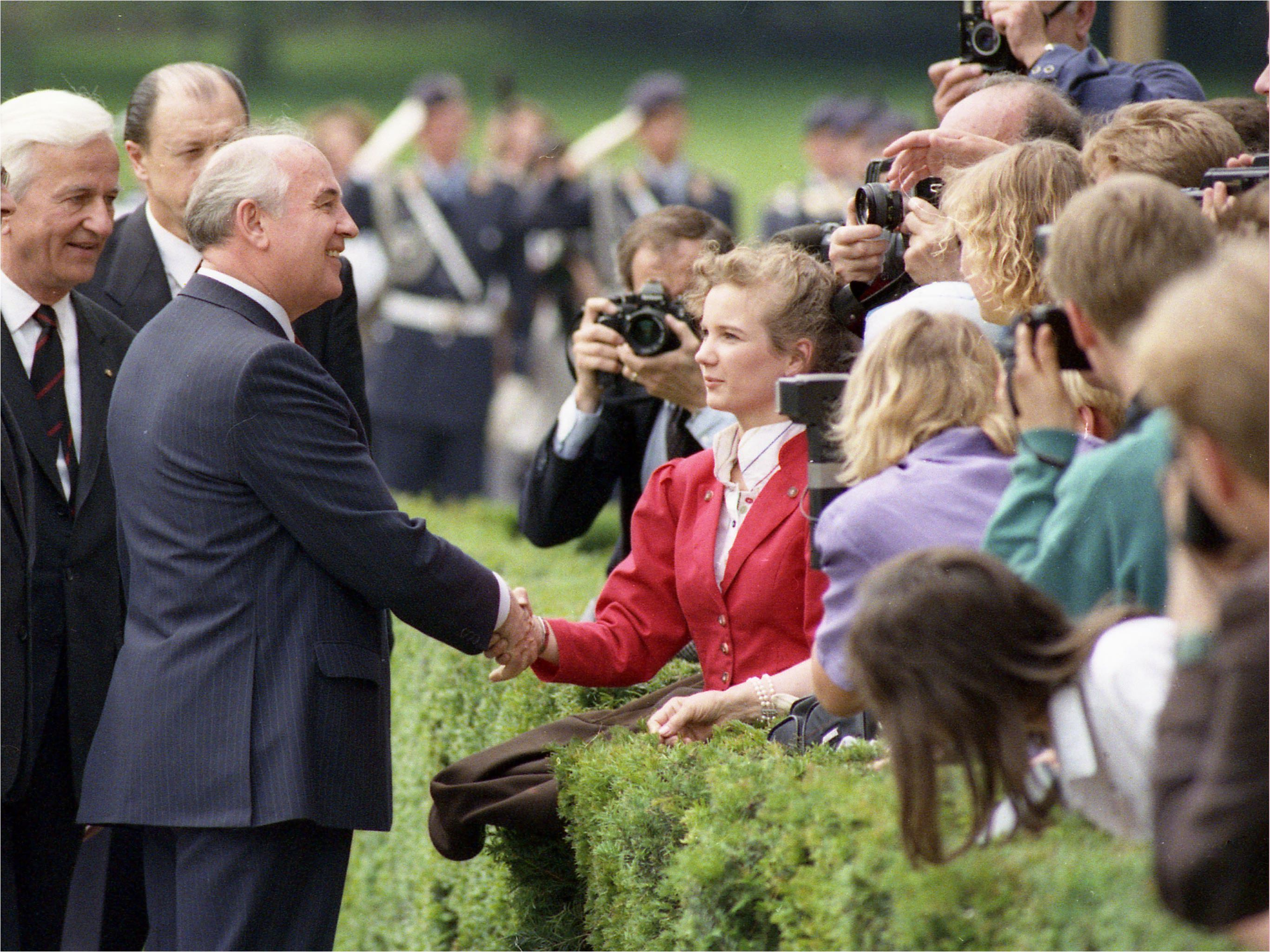 Mikhail Gorbachev visits Bonn, West Germany