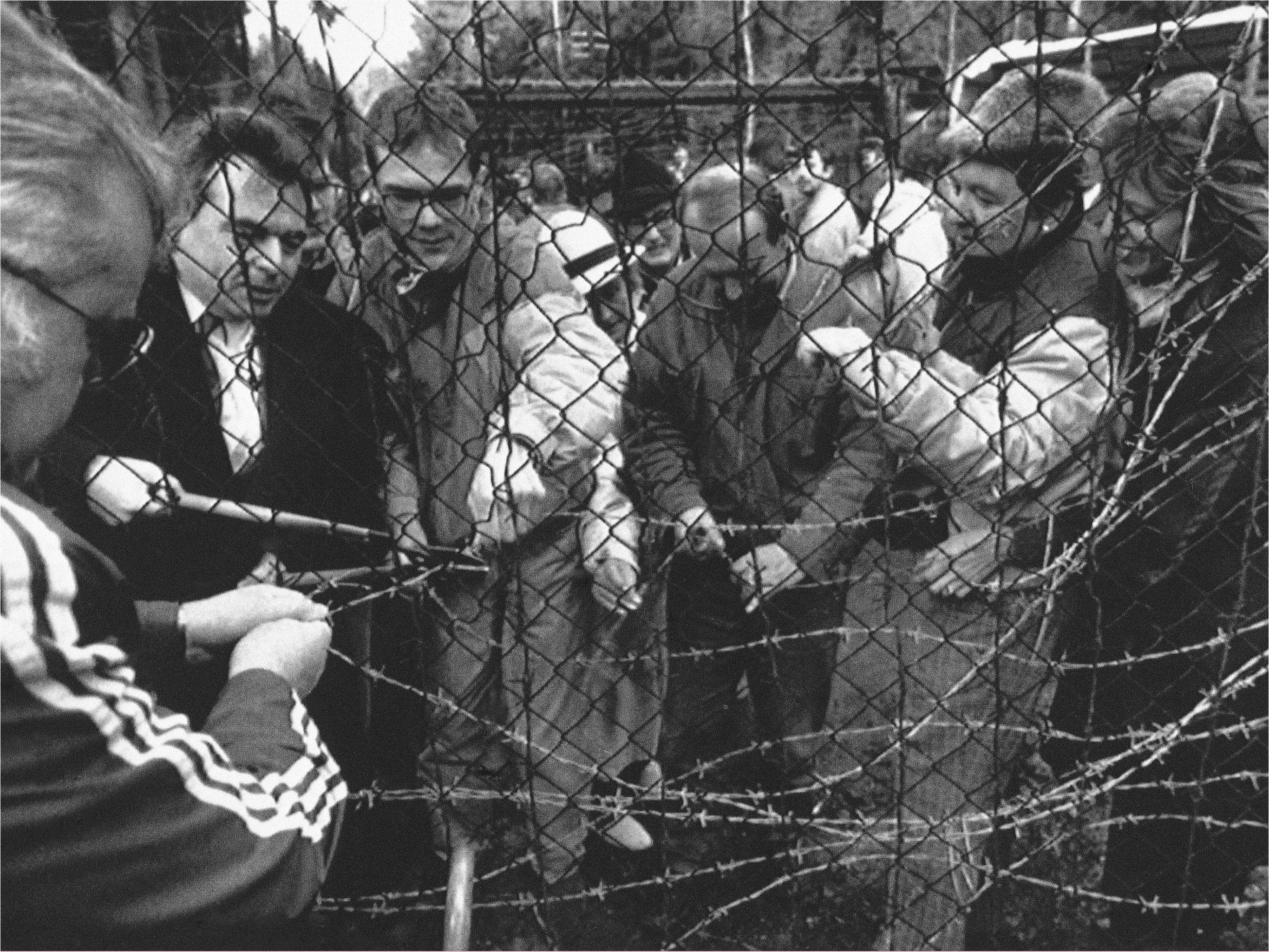 "Removal of the ""Iron Curtain"" at the Czechoslovakia and West German border"