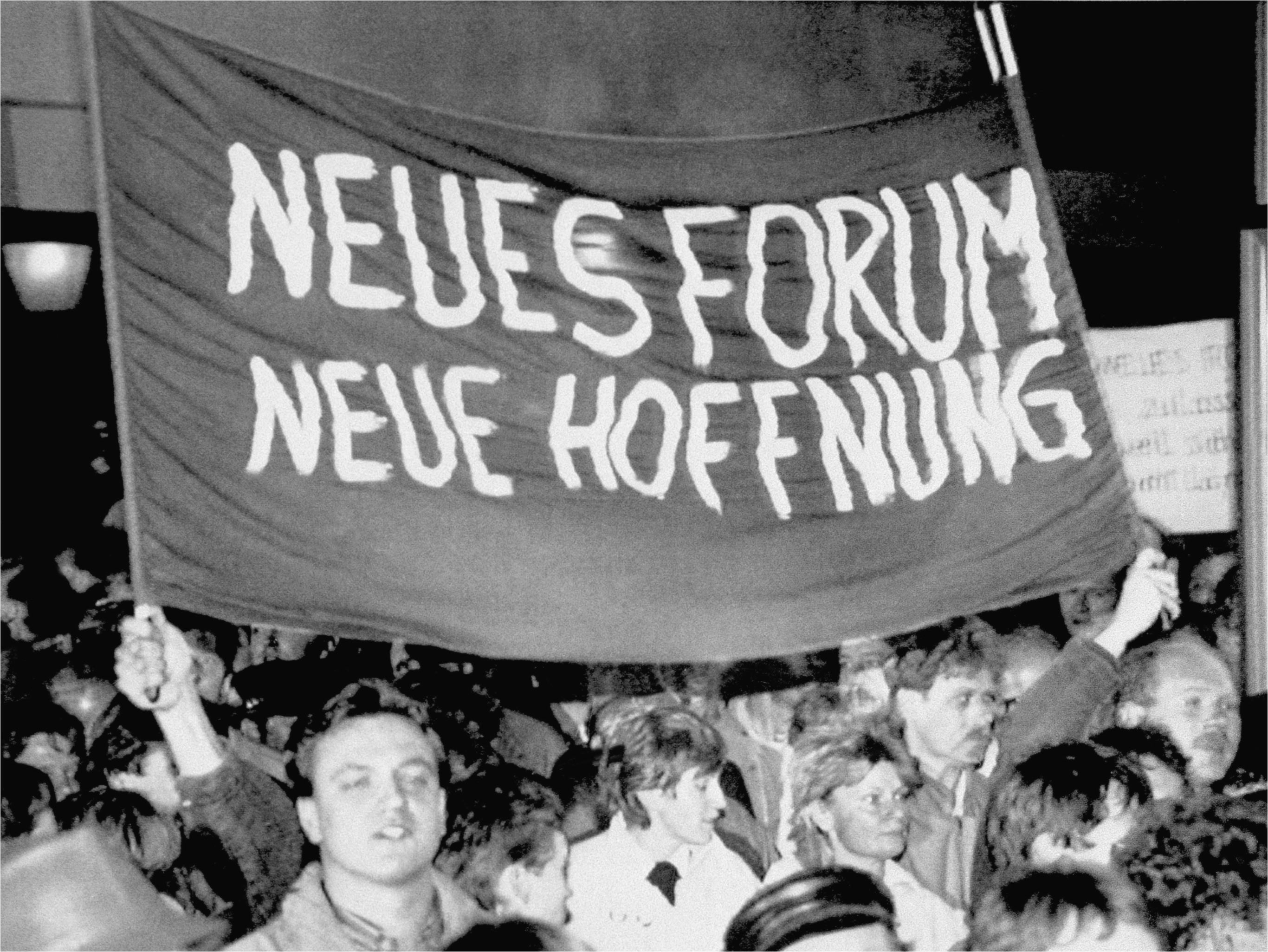 Monday demonstration in Leipzig, East Germany