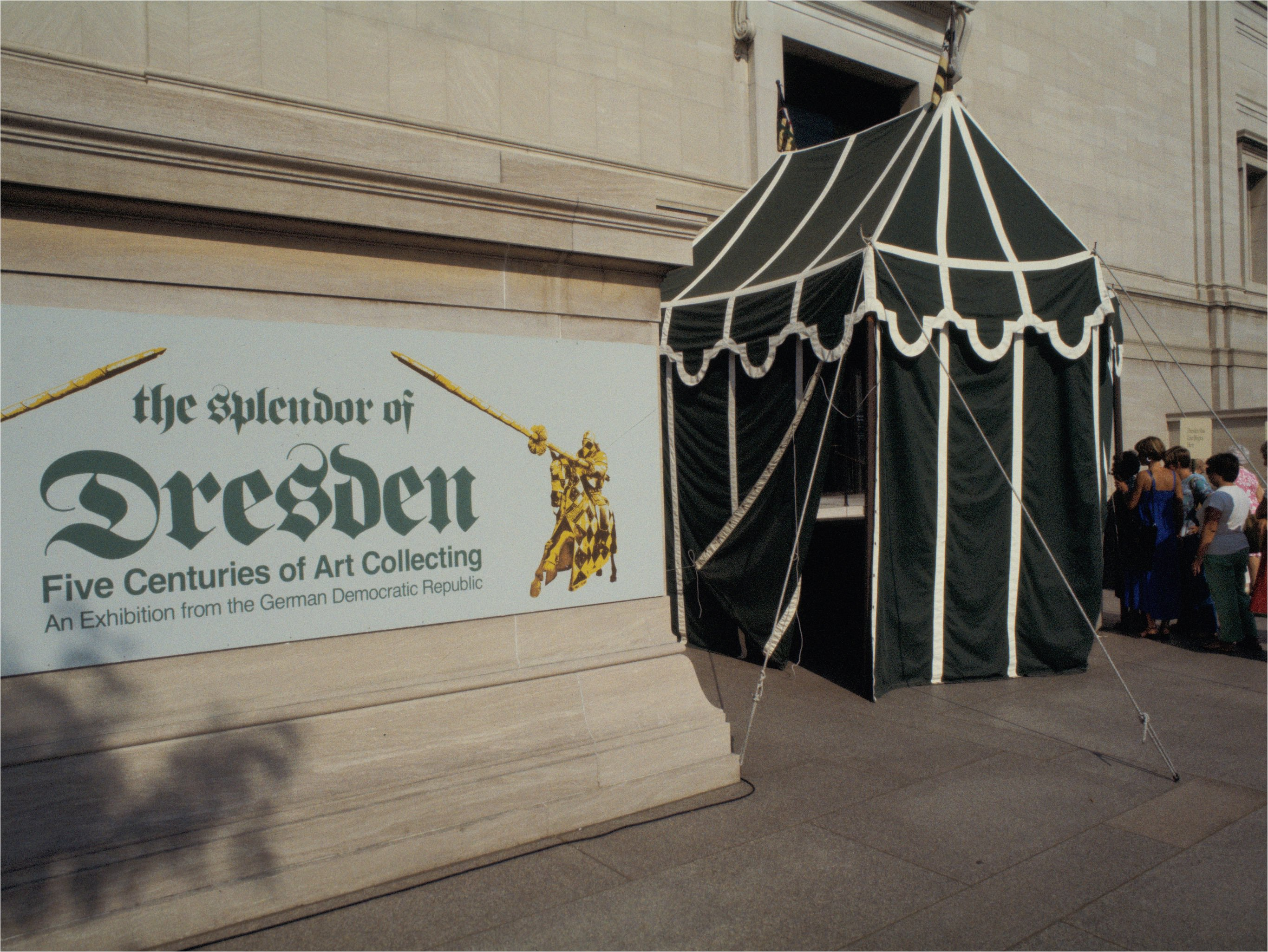 The colorful exhibition 'The Splendors of Dresden' opened the new East Wing of Washington, DC's National Gallery of Art in 1978.