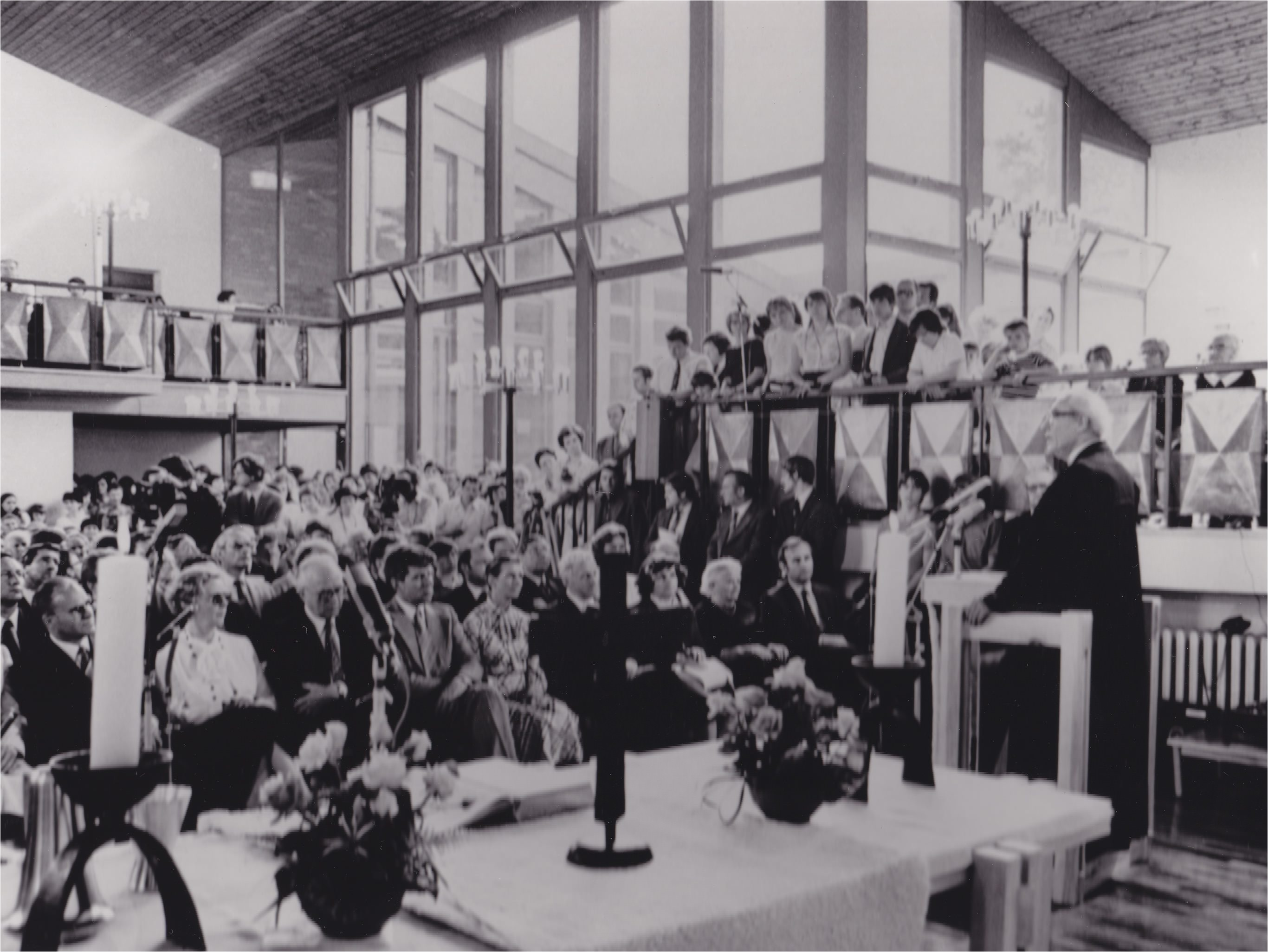 Photo of the 1981 consecration of an East German Evangelical church in East Germany