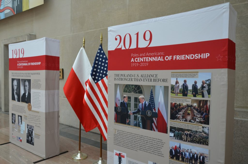 Flags of the US - American Polish exhibit