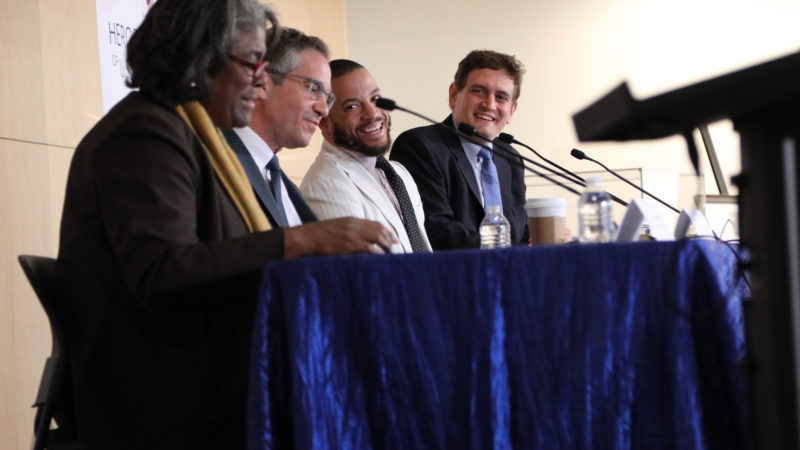 From left to right: Ambassador Linda Thomas-Greenfield, Dr. Kal Raustiala, Dr. Ravi Perry, Ralph J. Bunche III