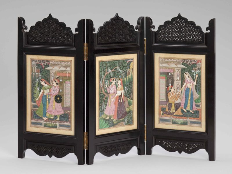 Decorative screen, gift of Indian External Affairs Minister Pranab Kumar Mukherjee to Secretary Rice, given during his visit to Washington, D.C., March, 24, 2008. Collection of the National Museum of American Diplomacy.
