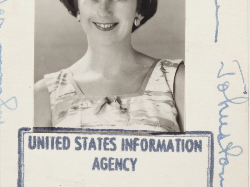 Spurred by a desire to see the world, Myriam Johnston joined the U.S. Information Agency (USIA) in 1955.