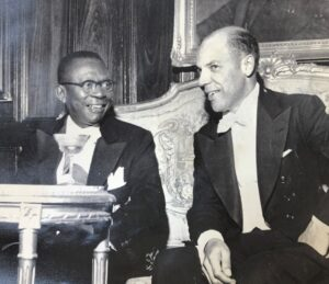 Ambassador Edward E. Dudley with Liberian President William Tubman, c.1949. Collection of the National Museum of American Diplomacy.