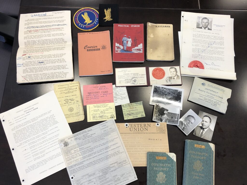 The complete collection of items from the courier career of Joseph H.L. Garrison