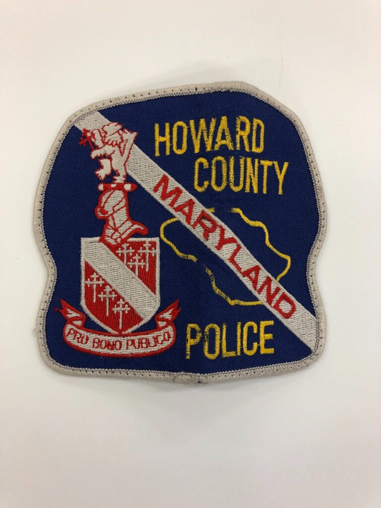 Patch Howard County Police Artifact